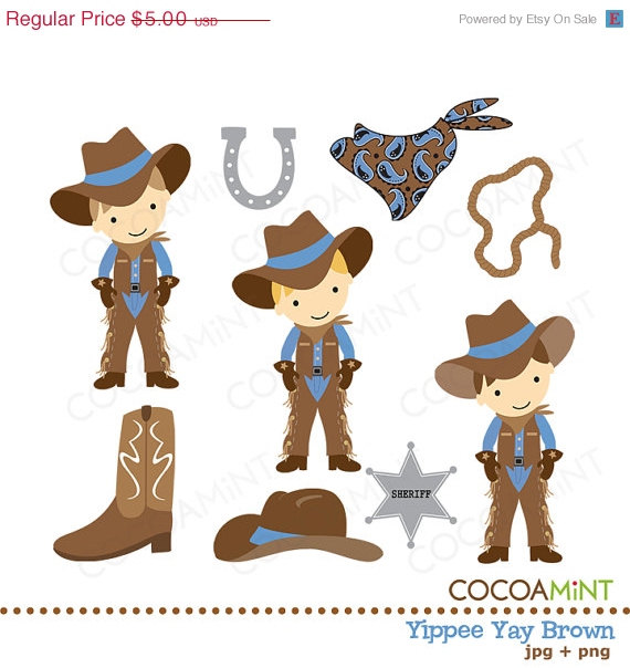 Yippee Yay Cowboy Brown Clip Art By Cocoa Mint   Catch My Party