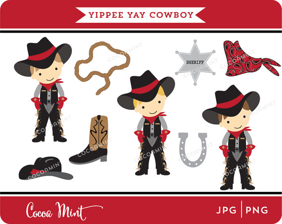Yippee Yay Cowboy Clip Art By Cocoa Mint   Catch My Party