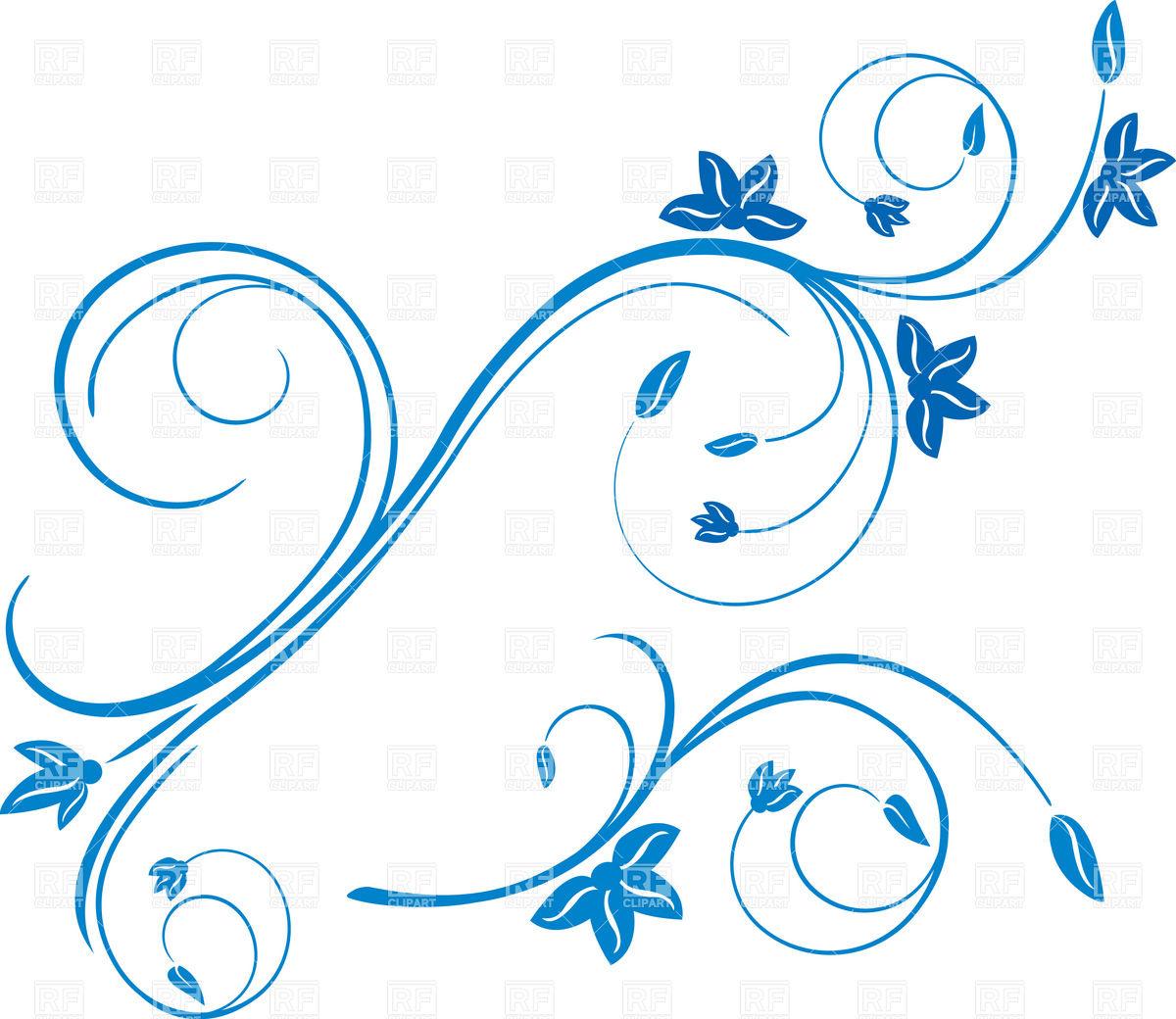 Blue Curl Clipart