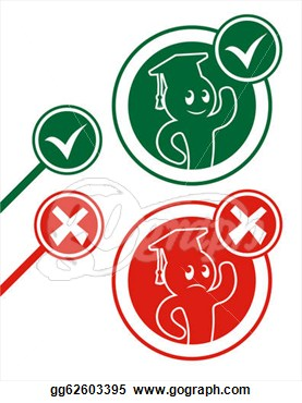Creative Design Of Symbol True And False  Clipart Drawing Gg62603395