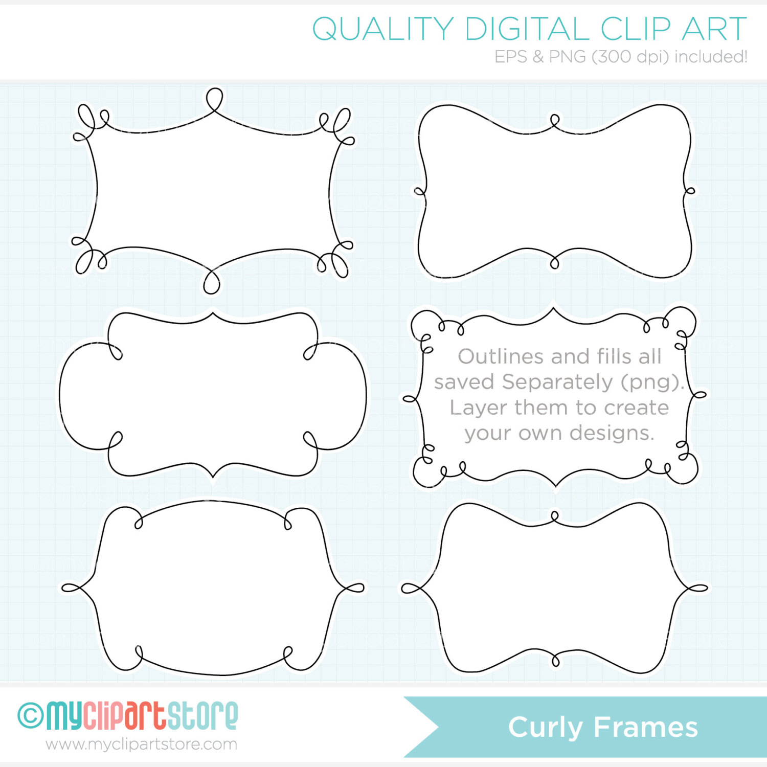 Curl Clipart Curly Frame   Baby Frame