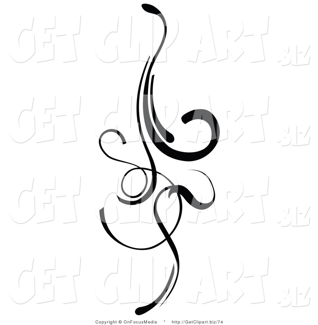 Curl Clipart Element Clipart Clip Art Of An Elegant Black Design