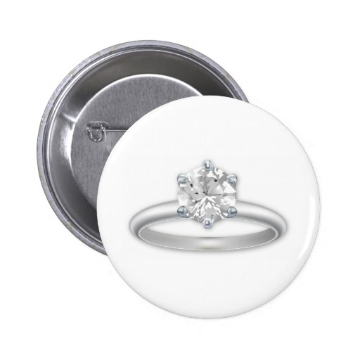 Diamond Ring Bling Clipart Graphic Pinback Buttons   Zazzle