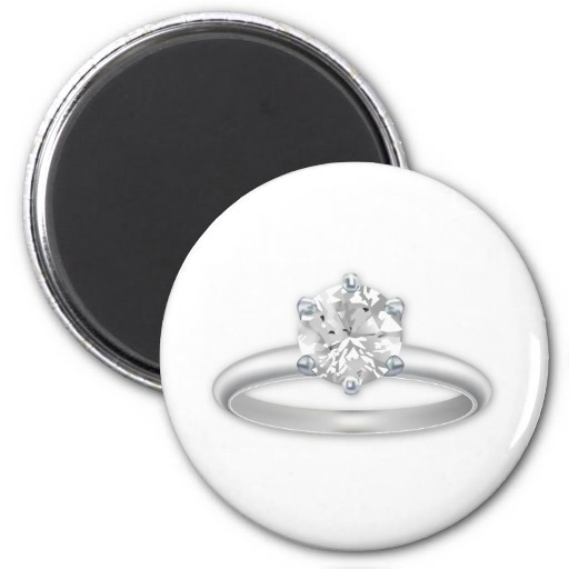 Diamond Ring Bling Clipart Graphic Refrigerator Magnets   Zazzle