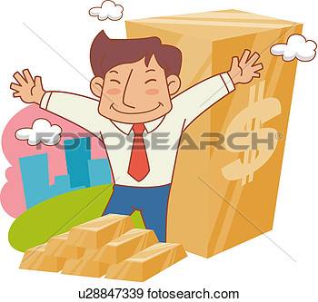 Full Age One Man A Lump Of Gold Business U28847339   Search Clipart