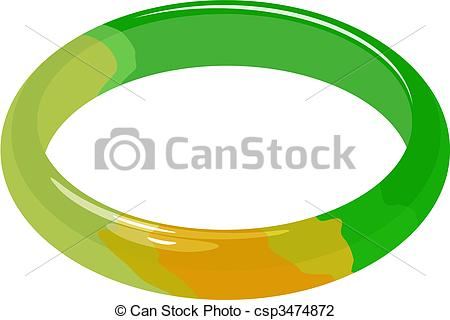 Jade Bracelet In Vector Csp3474872   Search Clipart Illustration