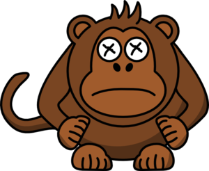 Lump Clipart Monkey Bump His Head Md Png