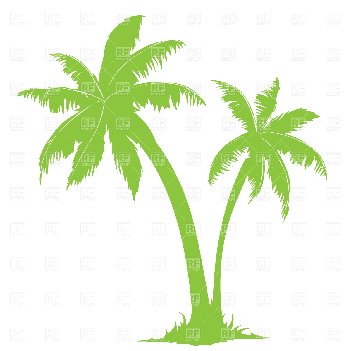 Palm Trees Clipart Palm Tree Silhouette Download