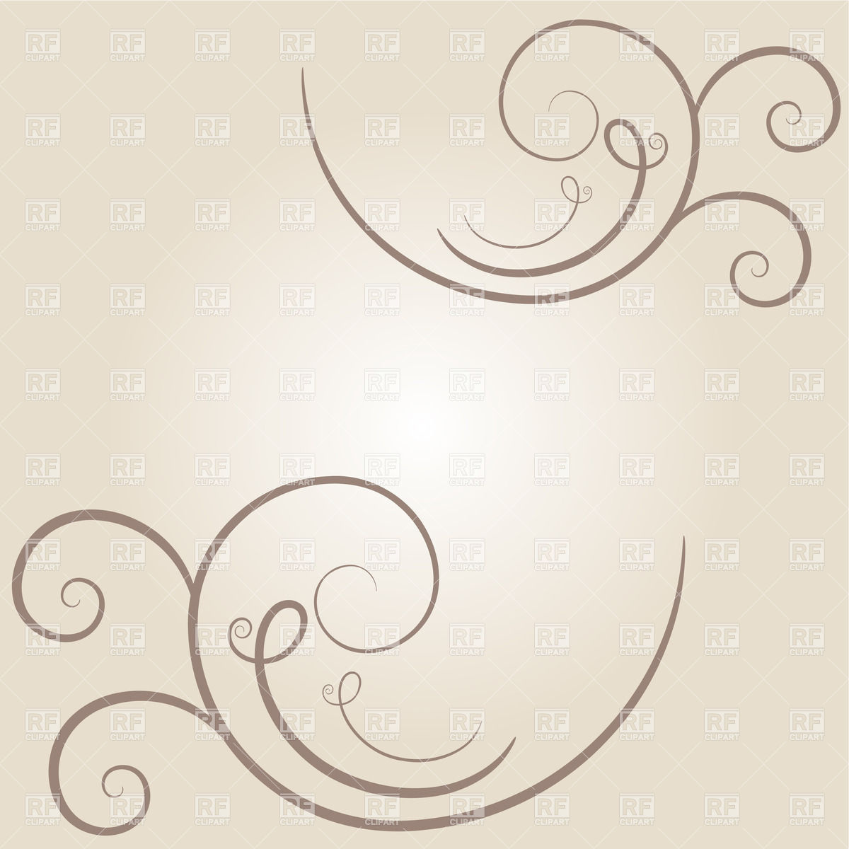 Simple Curl   Vignette Download Royalty Free Vector Clipart  Eps