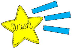 Wishing On a Star Clip Art