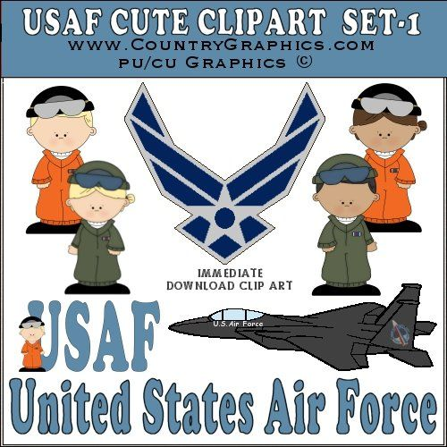 Usaf Clipart Cute Air Force Graphics