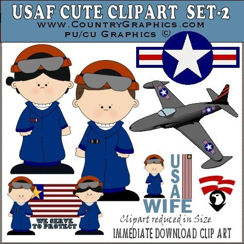 Usaf Clipart Cute Air Force Graphics Set2