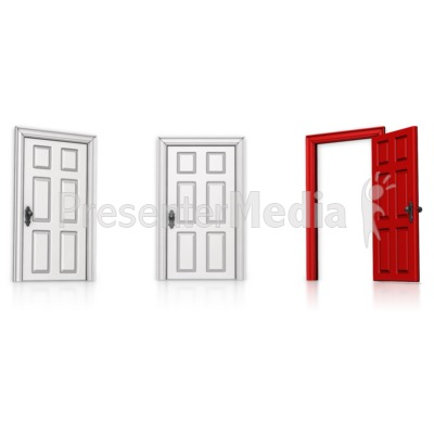 Choose Right Door Open   Presentation Clipart   Great Clipart For
