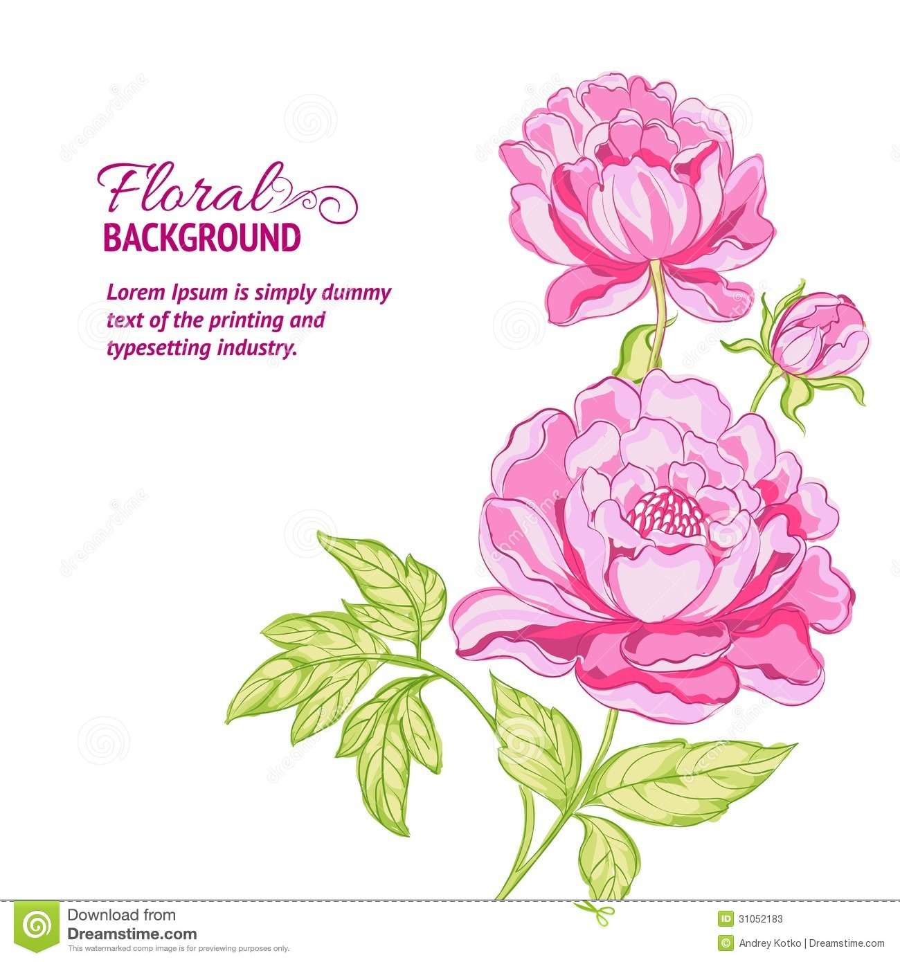 Displaying 20  Images For   Peony Border Clipart