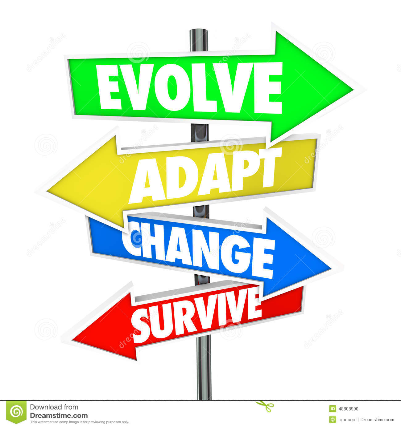 Evolve Adapt Change Survive Arrow Signs Evolution Adaptation Bus Stock