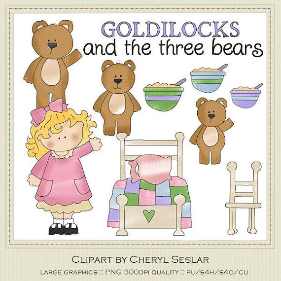 Goldilocks And The Three Bears Clipart By By Marlodeedesigns  1 25
