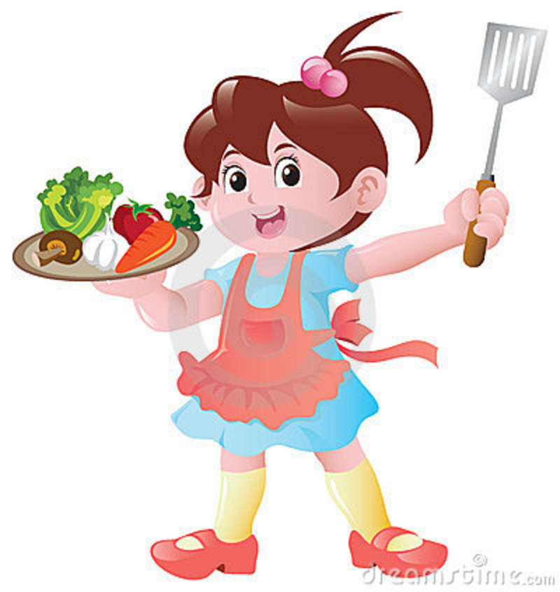 Little Girl Chef Clipart Girl Cooking Clipart Little
