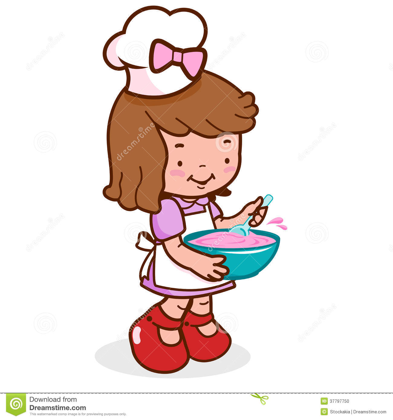 Little Kid Chef Cooking Stock Photo   Image  37797750