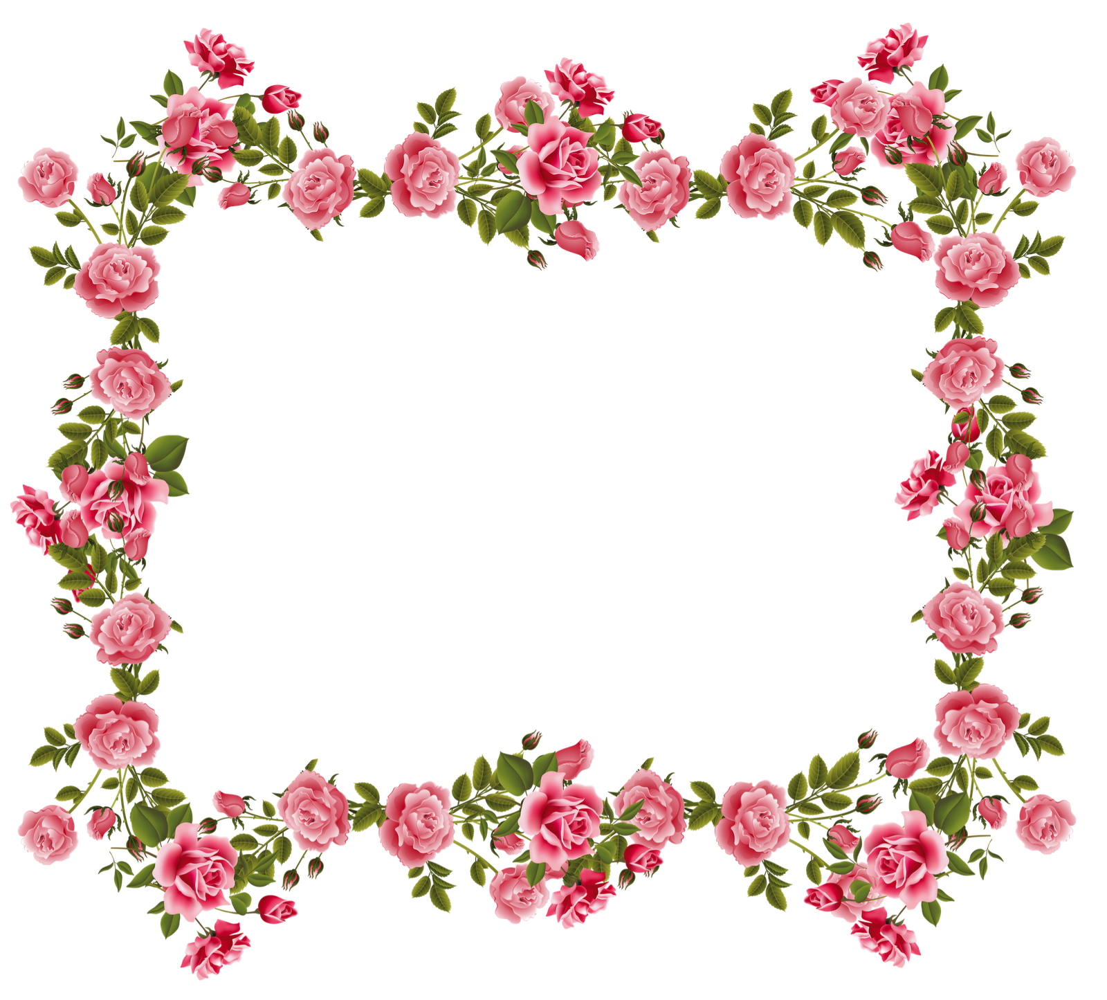 Vintage Rose Corners Clipart - Clipart Kid