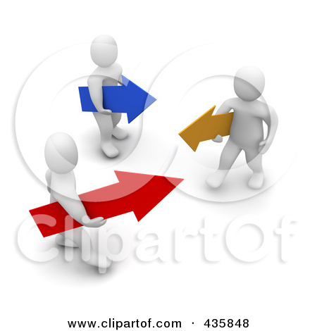 Royalty Free  Rf  Clipart Illustration Of 3d Blanco White Men Carrying