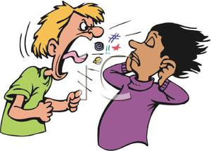 Shout Clipart A Man Yelling At A Girl Royalty Free Clipart Picture