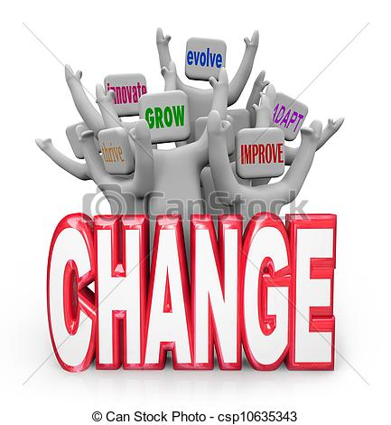 Stock Photo Of Change Team Of People To Innovate Evolve Improve Adapt