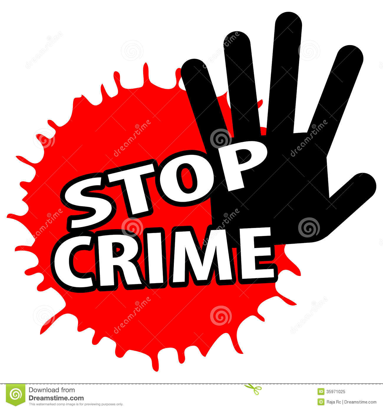Stop Crime Royalty Free Stock Photo   Image  35971025