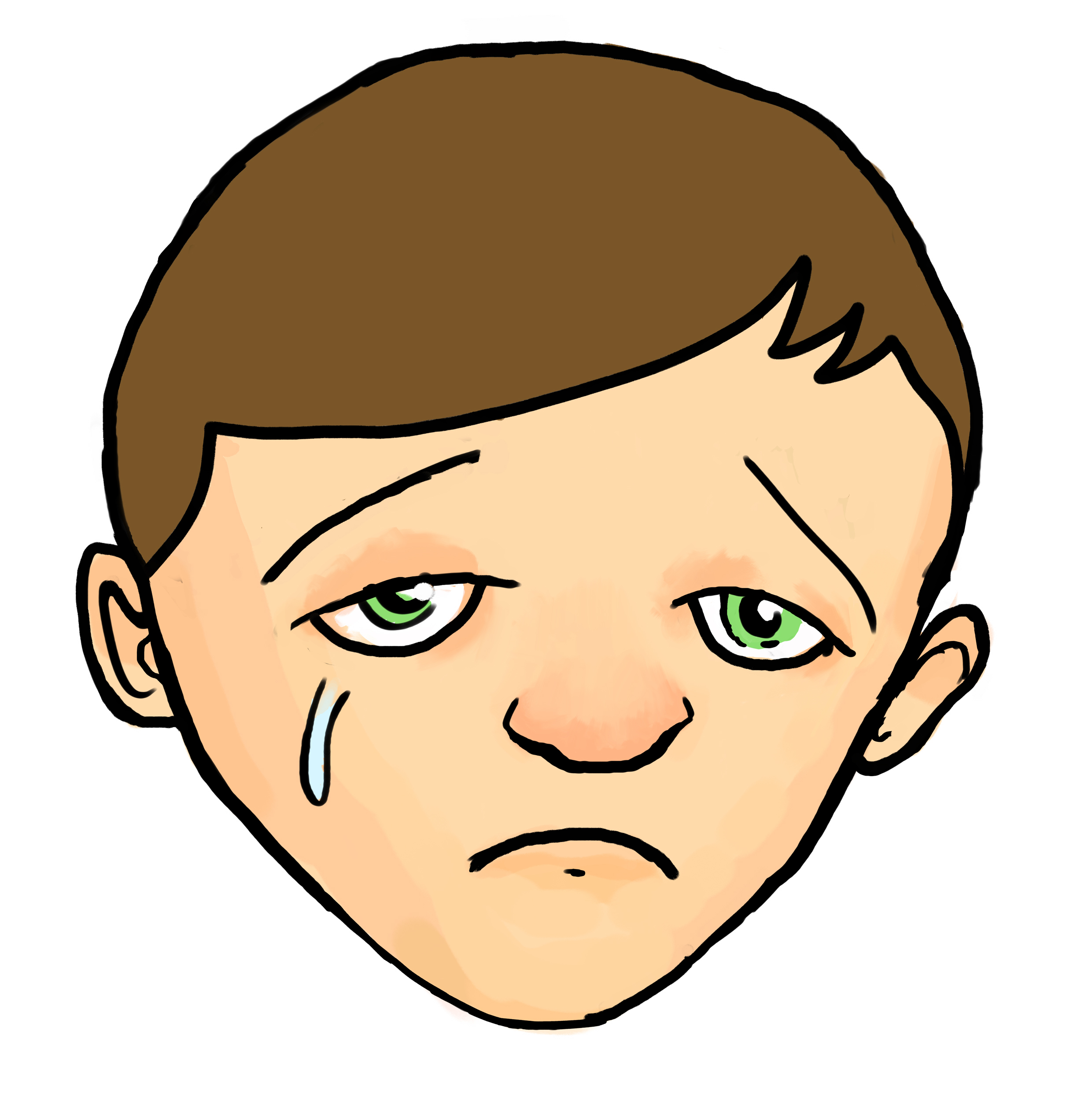 Cartoon Sad Face Clipart - Clipart Suggest