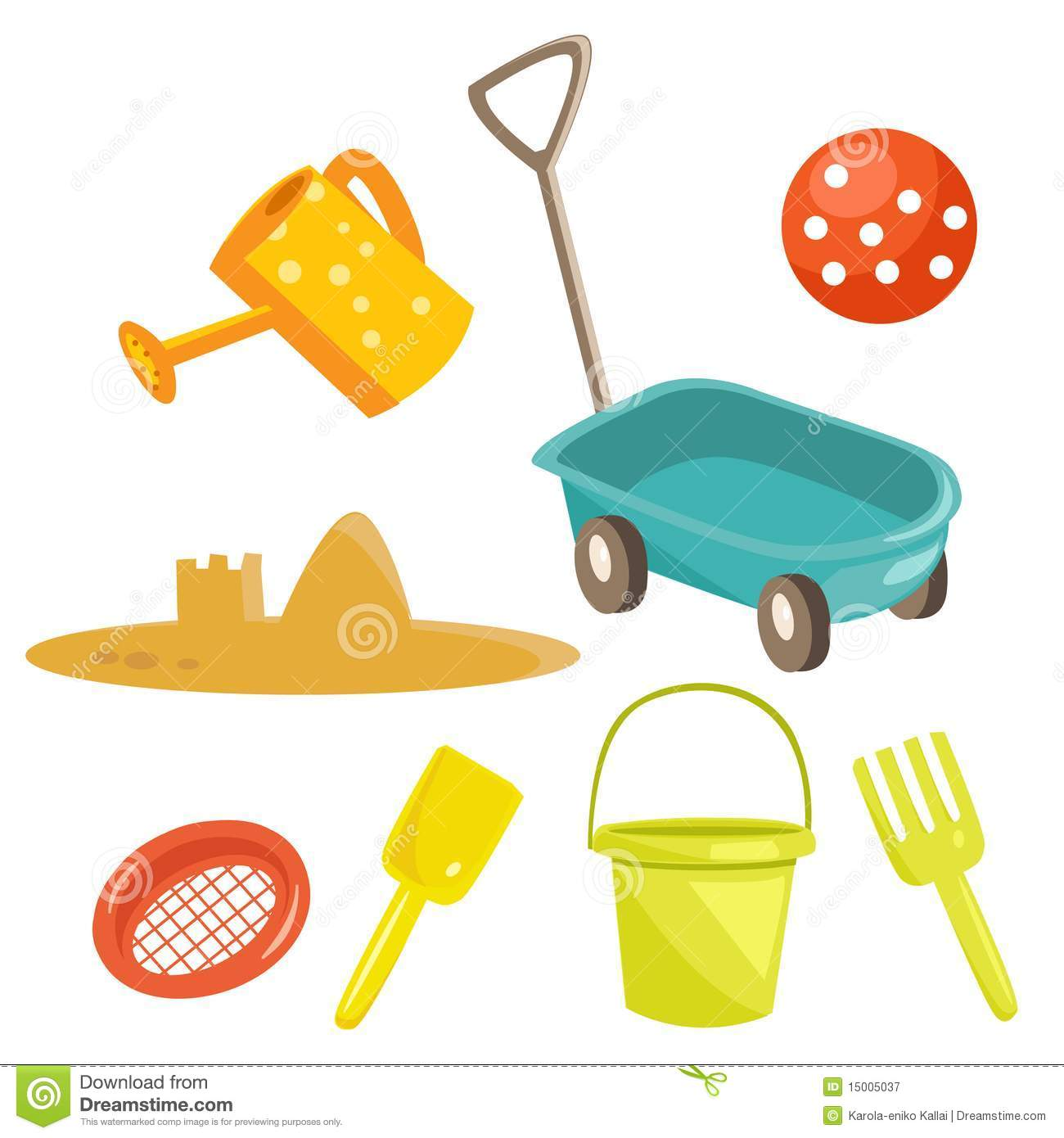 Cartoon Sand Toys Royalty Free Stock Photography   Image  15005037