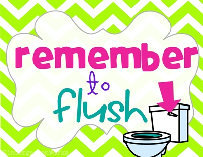 Classroom Routines For The Restroom   Wash And Flush  Printable