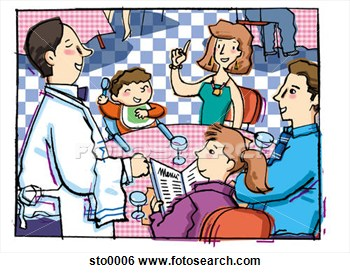Family Restaurant Clipart Family At Dinner Table Clipart   Free Clip