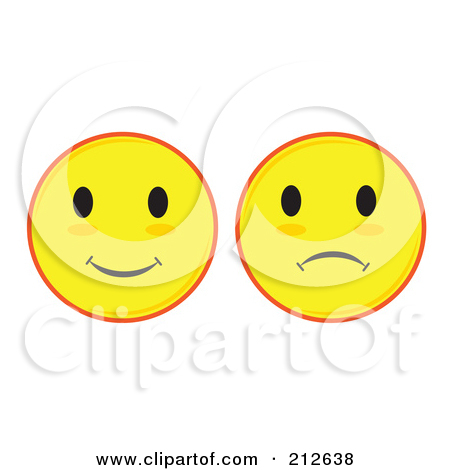 Happy Face Sad Face Clip Art