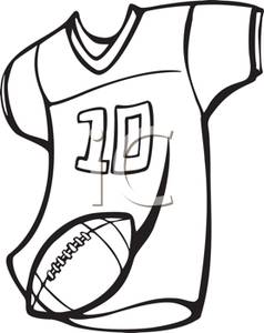 Jersey Clipart A Football Jersey And Football Royalty Free Clipart