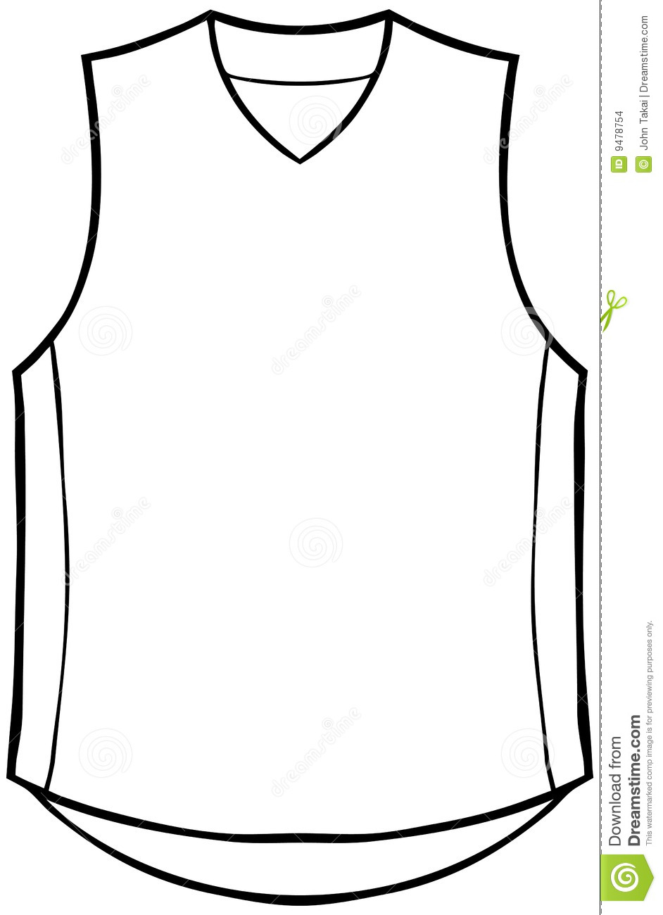 Jersey Clipart Shirt Sleeveless 9478754 Jpg
