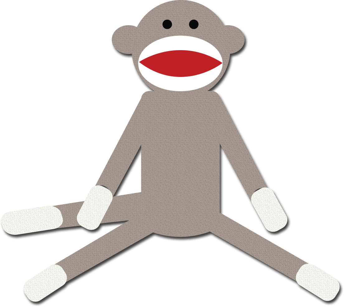 Clip Art Sock Monkey Clip Art colorful sock monkey clipart kid cute schylling sock