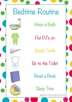 Morning And Bedtime Routines For Kids   Www Foreverorganised Com