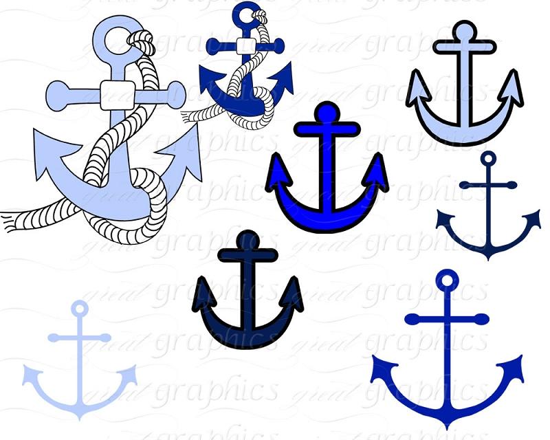 Nautical Clip Art Digital Clip Art Anchor Nautical Flag Clipart ...