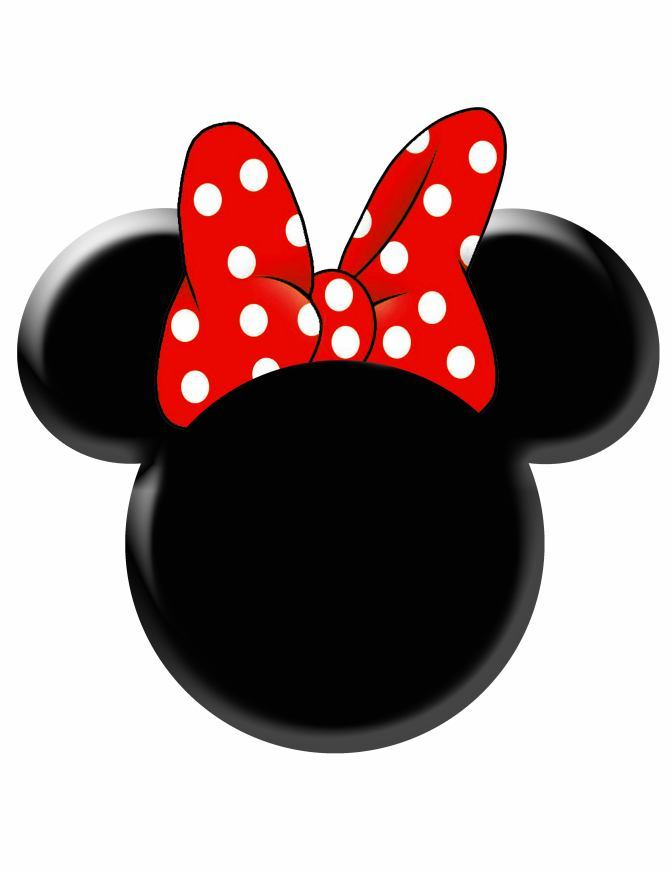Red Minnie Mouse Face Minnie Bow Head Red Jpg
