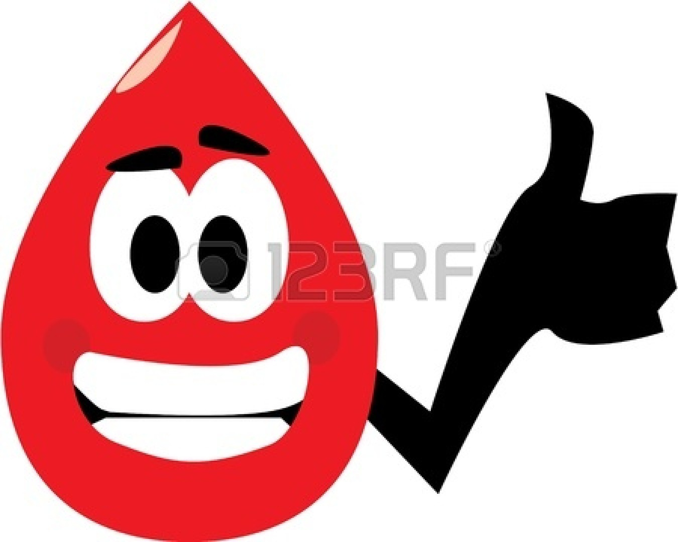 Relief Clipart 78743  Up For Donating Blood No Gradients Used Isola