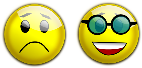 Smiley Glasses Sad Clip Art At Clker Com   Vector Clip Art Online