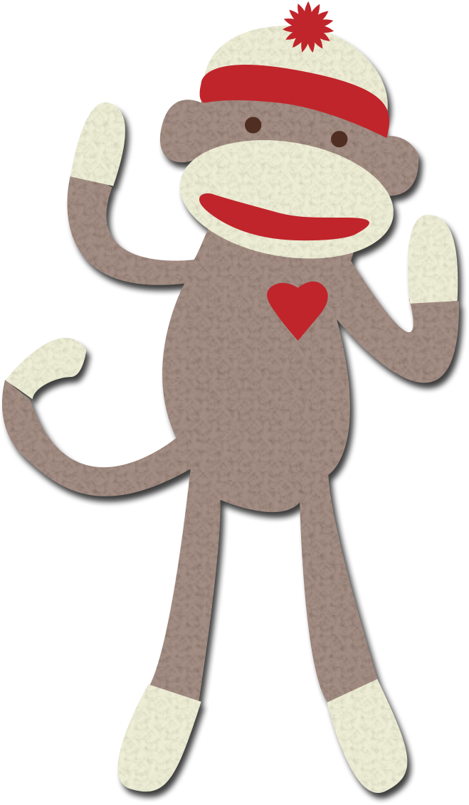 Sock monkey clip art jwvpw0 clipart suggest for Sock monkey face template