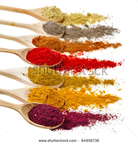 Spices Clipart Assortment Of Powder Spices On