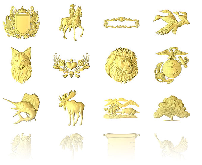The Included 3d Relief Clipart Library Of Over 600 3d Relief Models