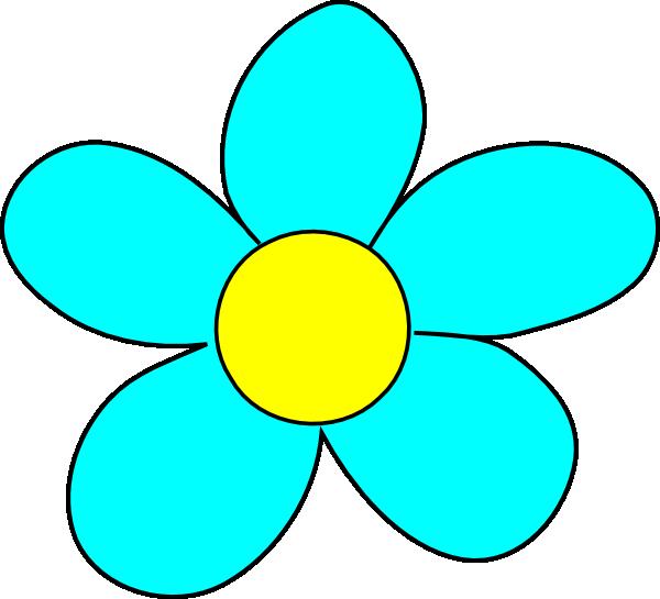 Blue Flower Clip Art Flowers Download Vector Clip Art Online