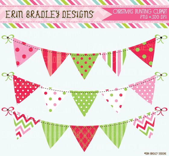 Christmas Pink Red   Green Digital Papers