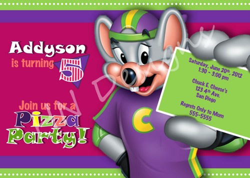 chuck e. cheese birthday clipart  clipart kid, Birthday invitations