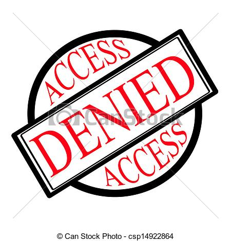 Clip Art Vector Of Access Denied   Stamp With Text Access Denied