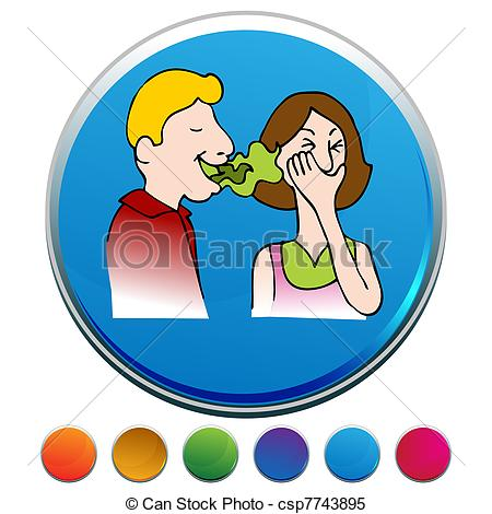 Clipart Vector Of Bad Breath Button Set   An Image Of A Bad Breath