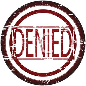 Denied Stamp Icon   Royalty Free Clipart Picture
