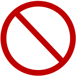 Free Vector Clipart Denied Sign